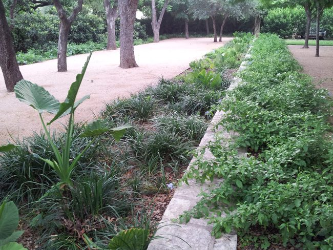 shade beds with crushed granite