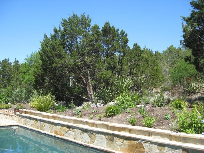 pool along hill country terrain