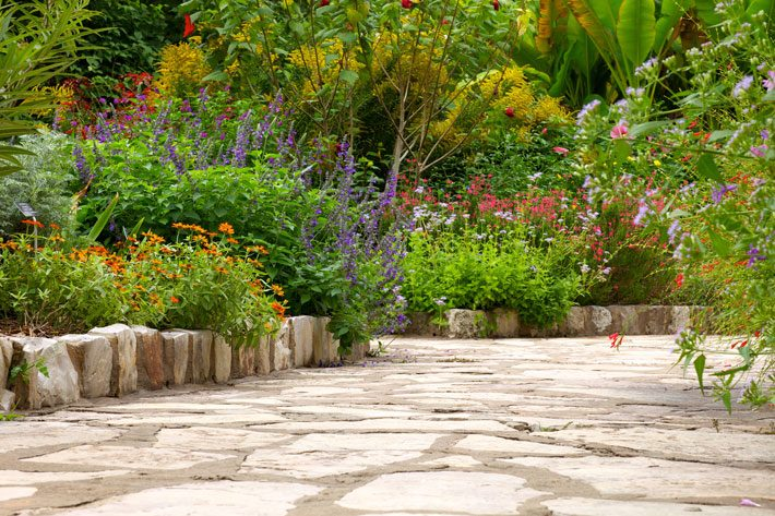 Old Fashioned Garden Walkway