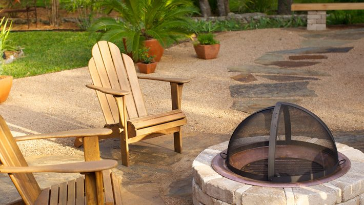 Patioscape with firepit