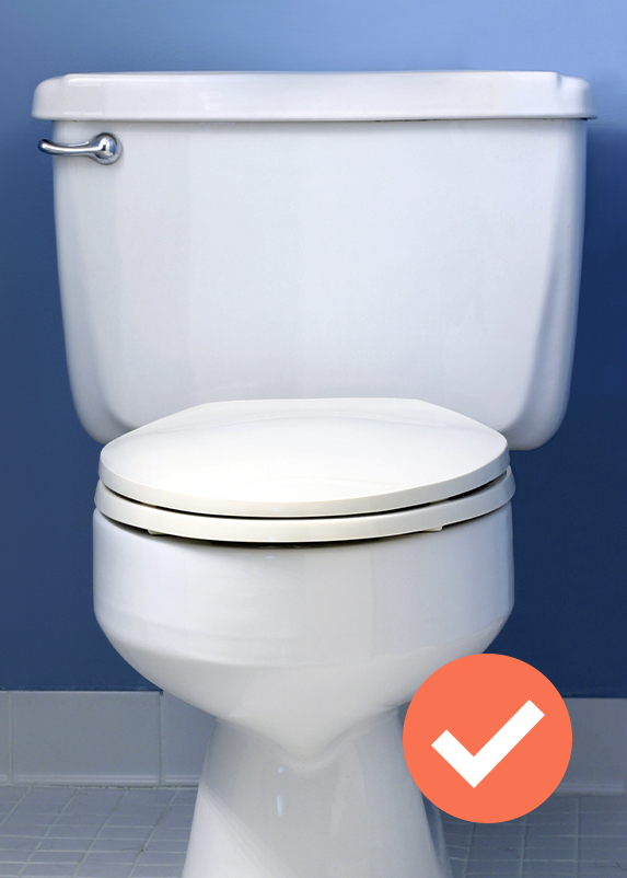 toilet front view